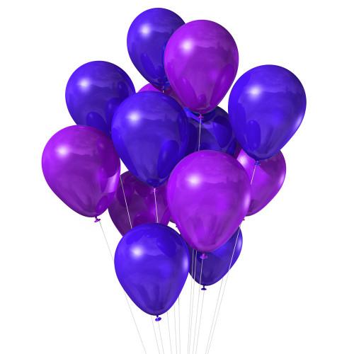 15 фиолетово-розовых шаров