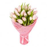 15 розовых тюльпанов