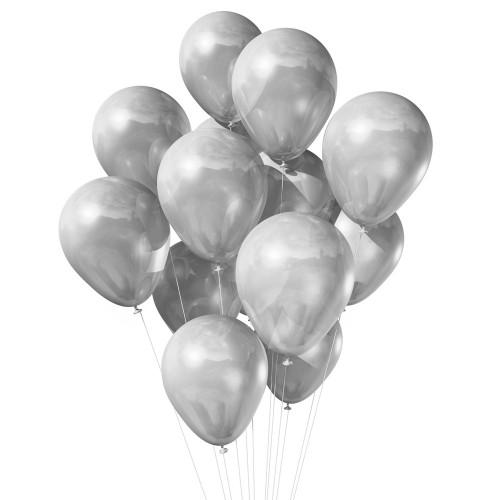 15 серебристых шаров