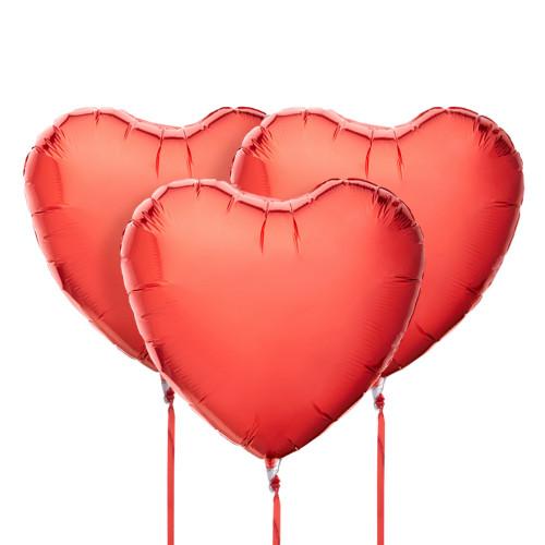 3 шара сердцем