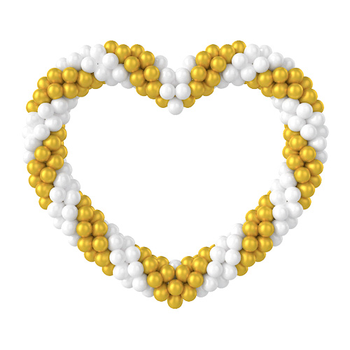 Золотисто-белое сердце