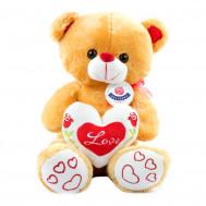 """Мишка коричневый с сердцем """"Love"""" 40см."""