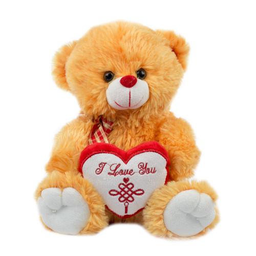 """Мишка коричневый с сердцем """"I Love You"""" 28 см."""