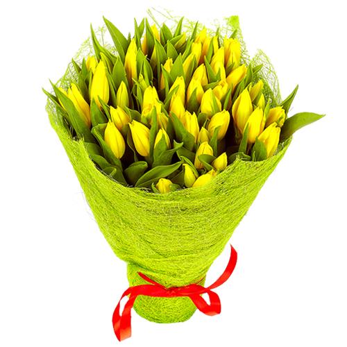 """Букет """"41 желтый тюльпан"""""""