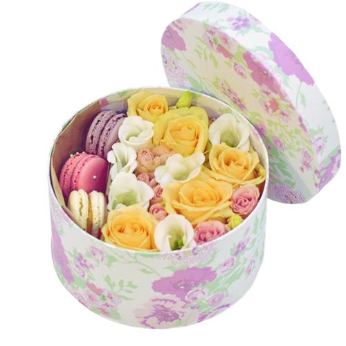 """Коробка цветов """"Фатин"""""""