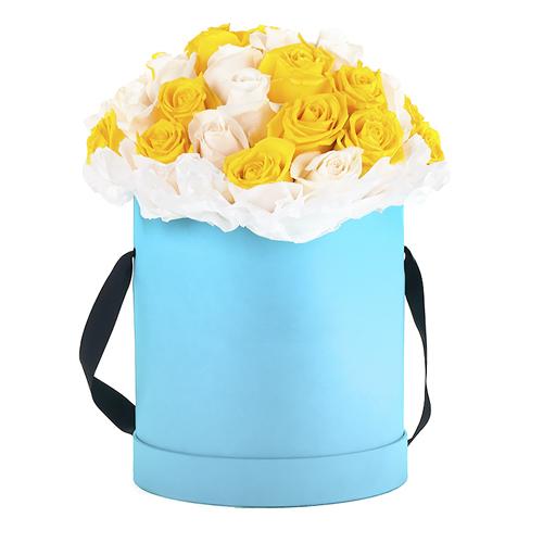 """Коробка цветов """"Лайм"""""""