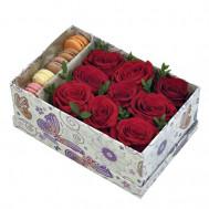 """Коробка цветов """"Ваниль"""""""